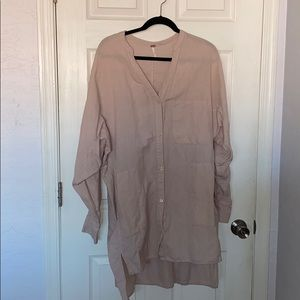 Free People linen tunic